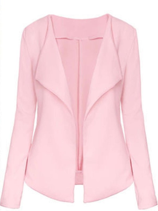 Slim Turn-Down Collar Women's Soft Blazer