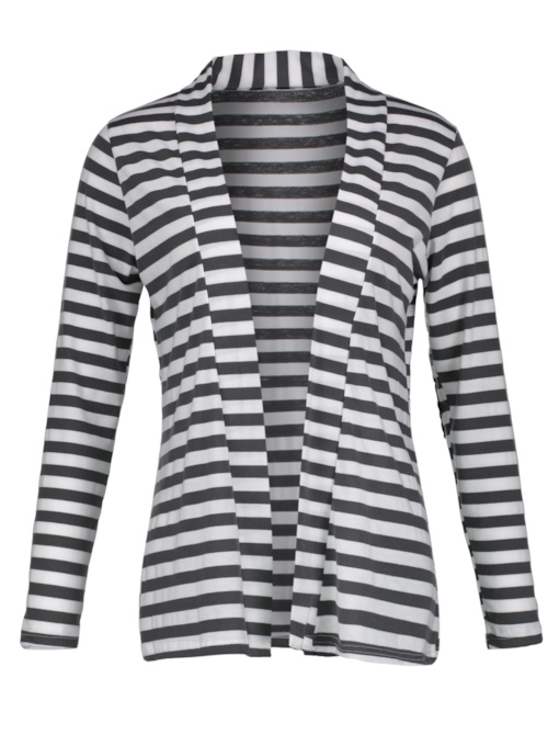 Stright Stripe Arm Patch Women's Cardigan