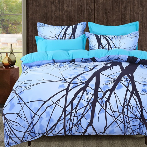 Tree Plant Four-Piece Bedding Set