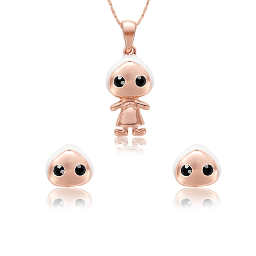 Rose Gold Dolls Alloy Jewelry Sets