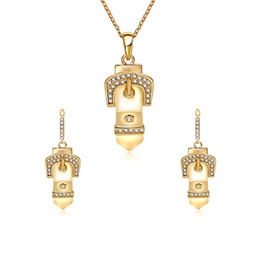 Diamante Gold Plated Alloy Jewelry Sets