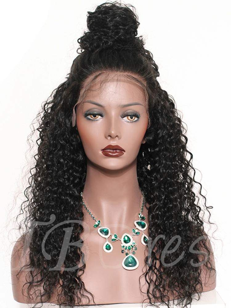 Kinky Curly Long Synthetic Hair Loose Capless Cap Wigs 24 Inches