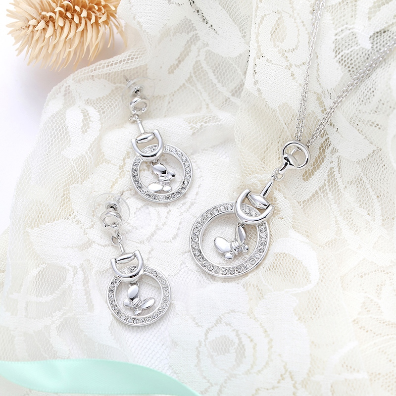 Roud Bowknot Hollow Out Jewelry Sets