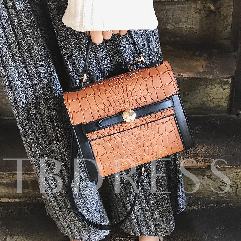 Vintage Croco-Embossed Women Tote