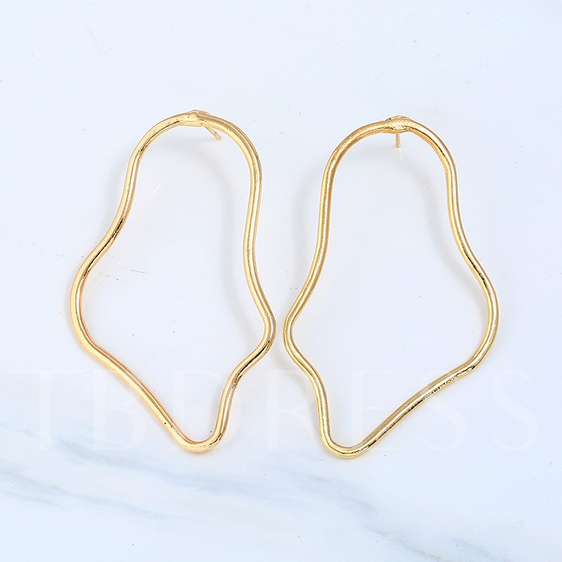 Alloy Overgild Irregular Hyperbole Earrings