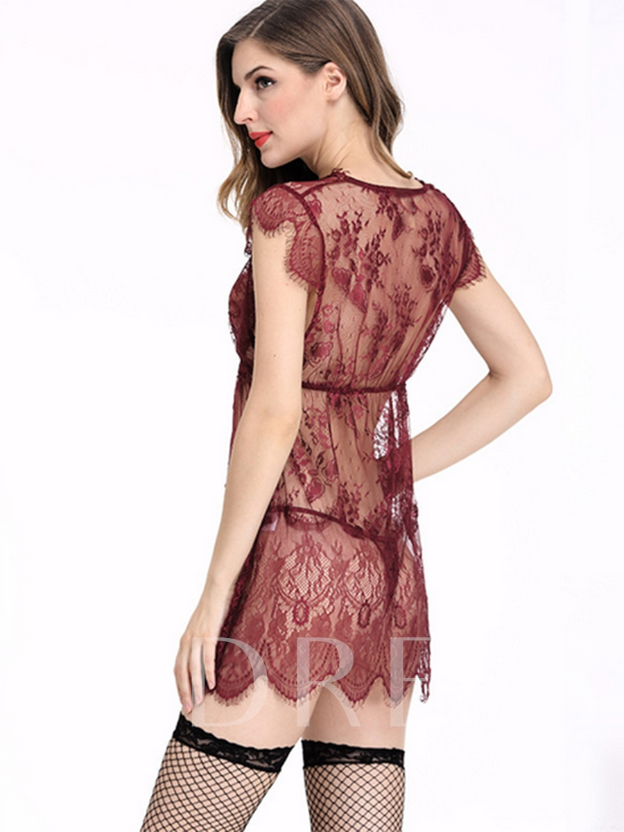 Lace Mesh See-Through Women's Sexy Lingerie