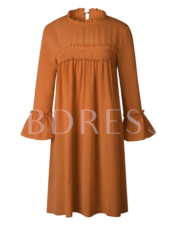 Bell Sleeve Loose Pullover Women's Day Dress