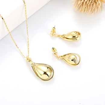 Water Drop Shaped Overgild Jewelry Sets