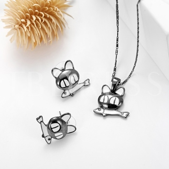 Cat Fish Alloy Bamboo Chain Jewelry Sets