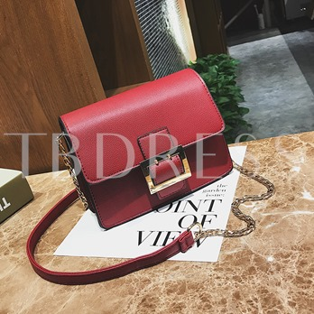 Chic Belt Decorated PU Cross Body Bag