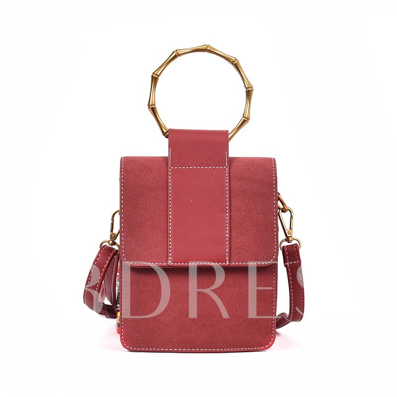 Casual Mini Matting Solid Color Cross Body Bag