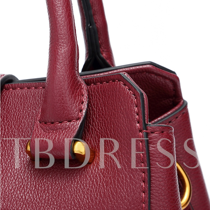 Casual Belt-Decorated Solid Color Women Tote