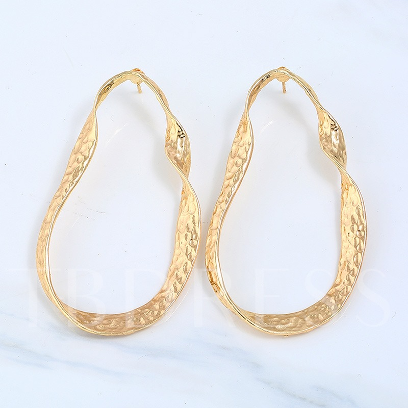 Metal Gold Plated Simple Alloy Earrings