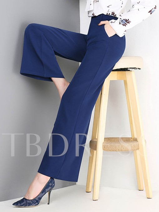 High Waist Pure Color Women's Casual Pants