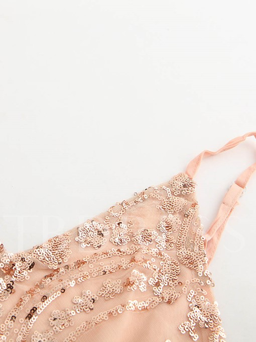 Sexy Hollow Backless Sequins Women's Romper