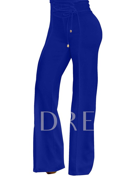 Lace Up Women's Casual Pants