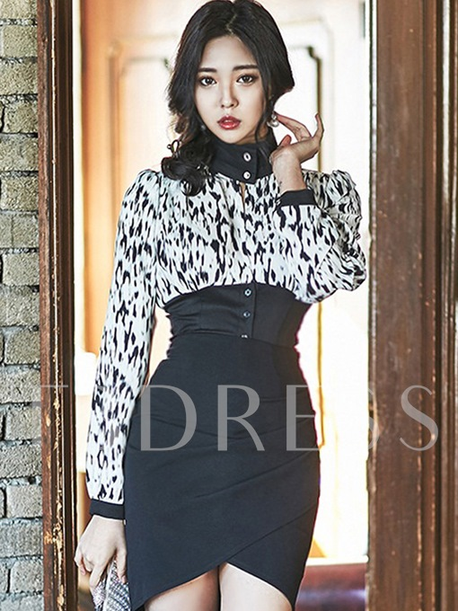 Long Sleeve Turtle Neck Women's Bodycon Dress