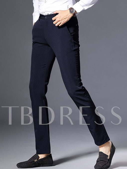 Solid Color Leisure Slim Fit Men's Casual Pants