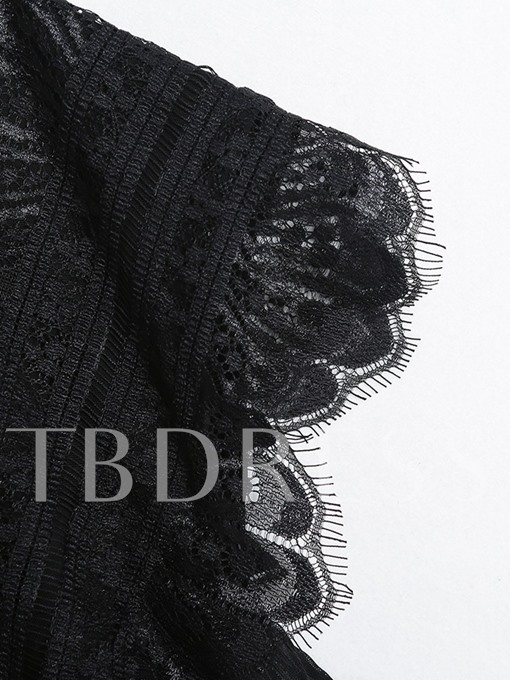Sexy Perspective Lace Patchwork Women's Bodysuit