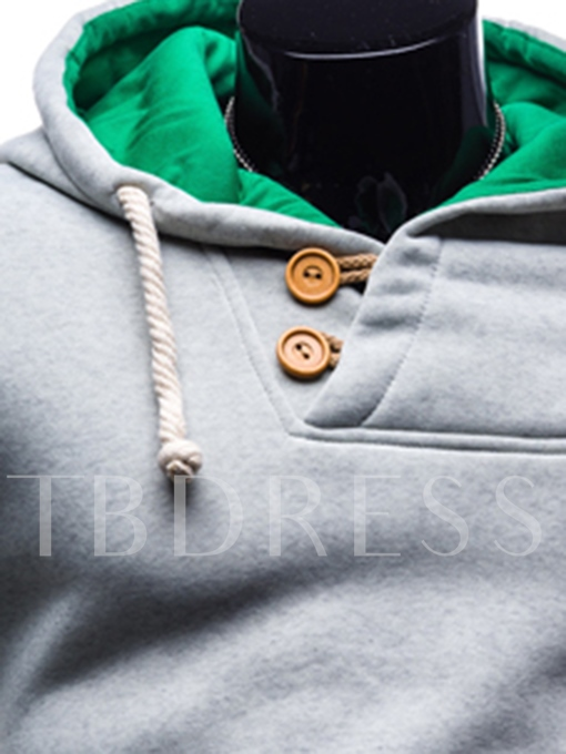 Hooded Kangaroo Pocket Color Block Slim Men's Hoodie