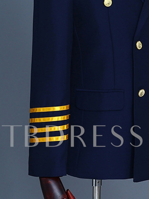 Notched Collar Double-Breasted Men's Dress Suit