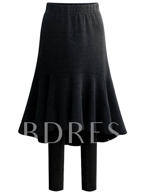 Asymmetric High-Waist Two Piece Women's Skirt