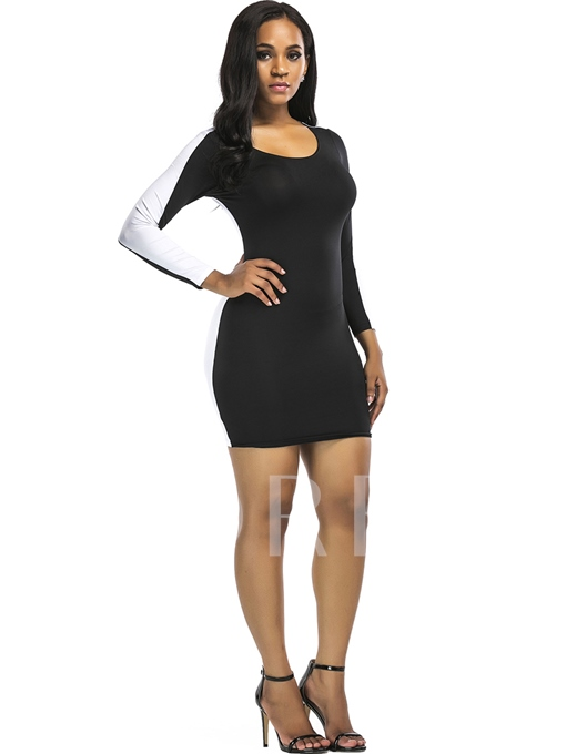 Pullover Long Sleeve Women's Bodycon Dress