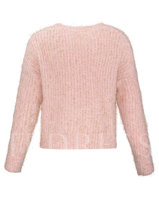 Loose Beading Decorative Pullover Women's Sweater