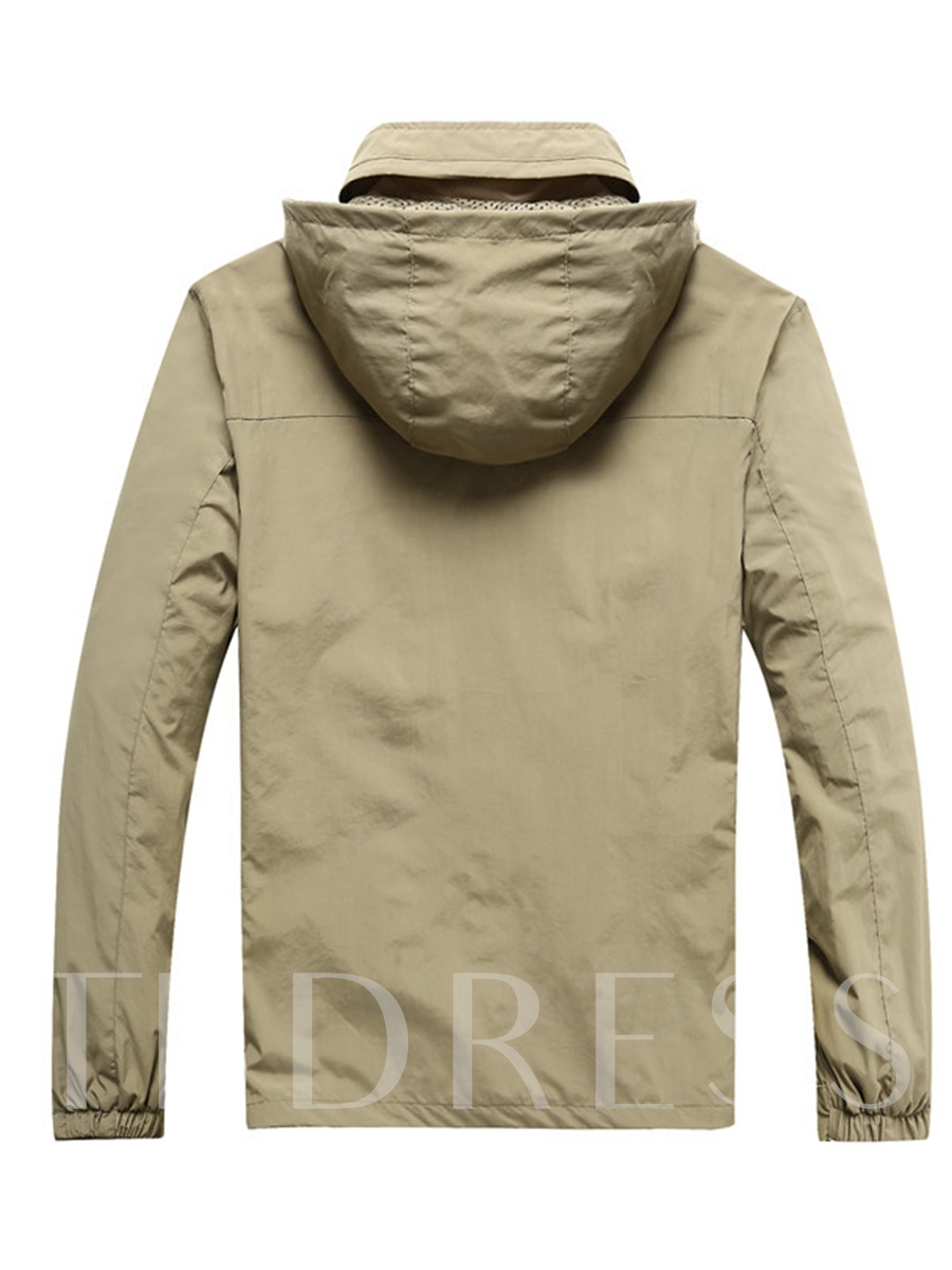 Hiking Breathable Solid Single Male Tops