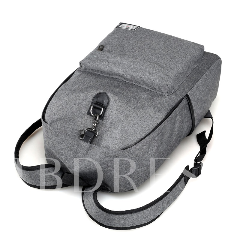 Casual Solid Color Oxford Men's Backpack
