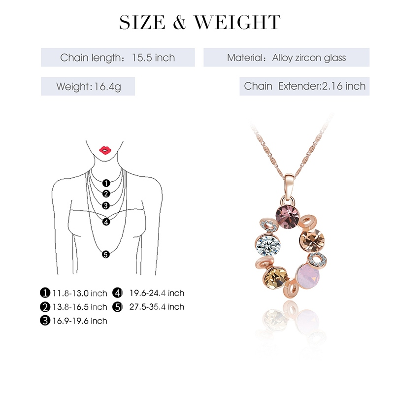 Rhinestone Round Hollow Out Jewelry Sets