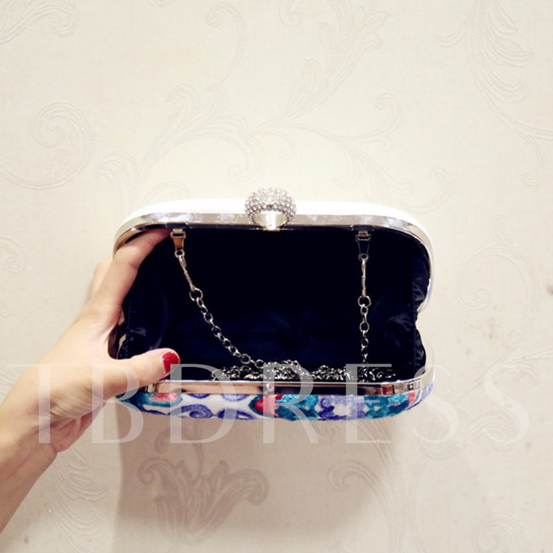 Korean Style Embroidery Women Evening Clutch