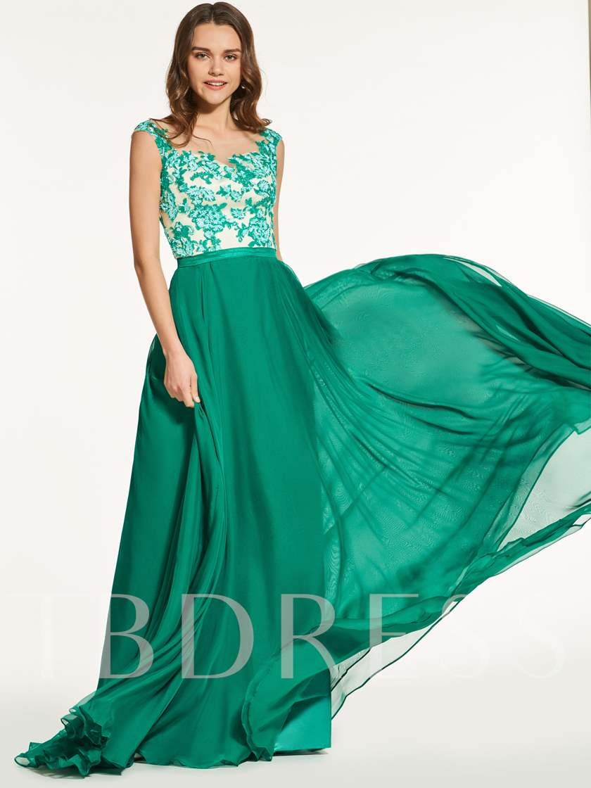 Sequins A-Line Jewel Sleeveless Prom Dress