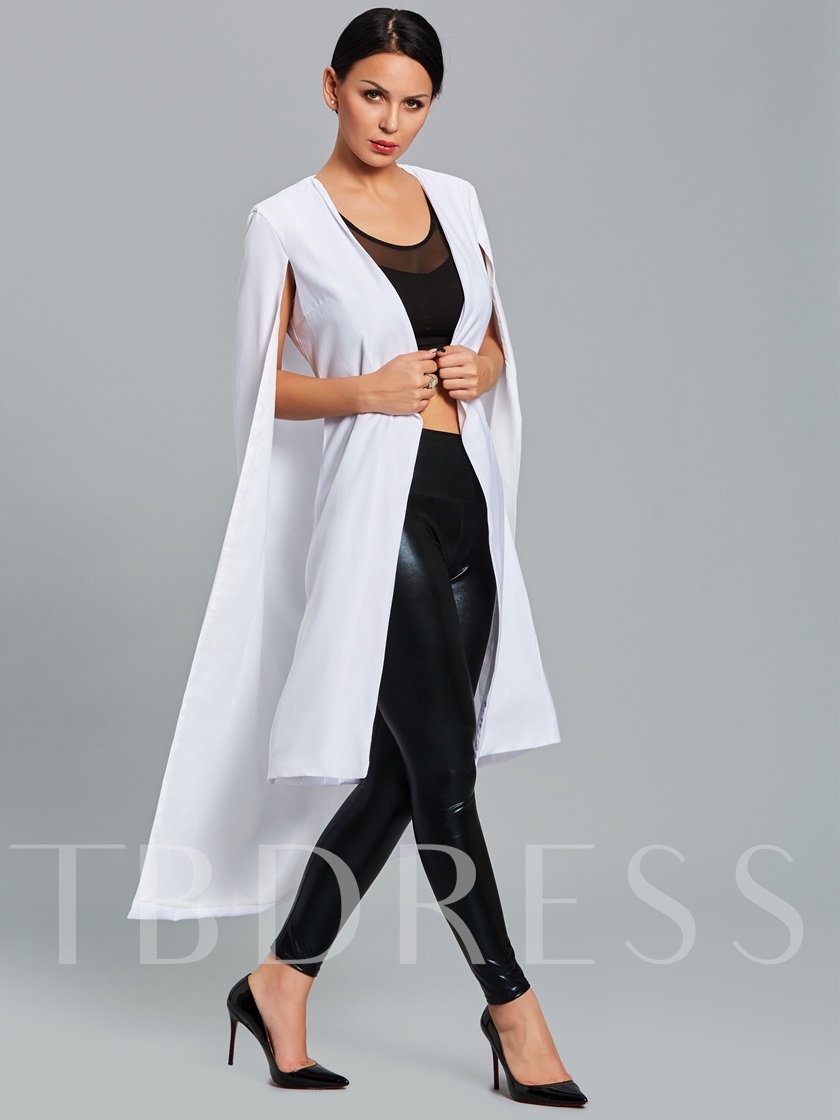 Shawl Pattern Long Loose Cardigan Women's Blazer