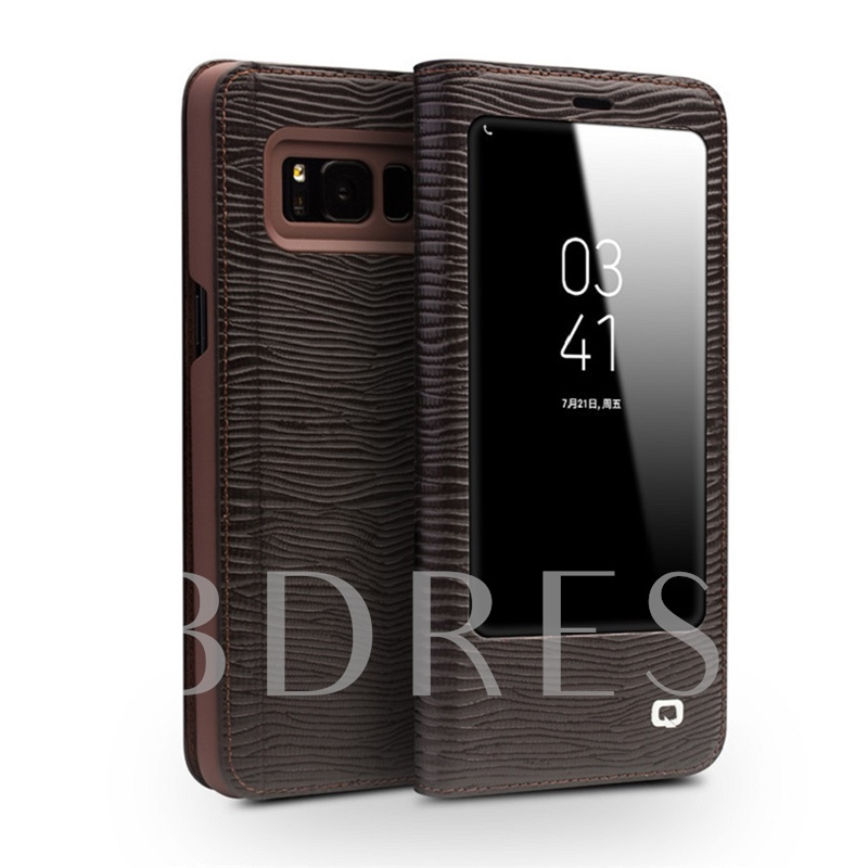 Samsung Galaxy S8/S8 Plus/Note 8 Case, Shell Stand with Window View
