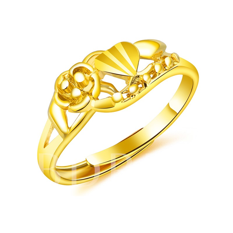 Hollow Out Gold Plated 24K Opening Ring