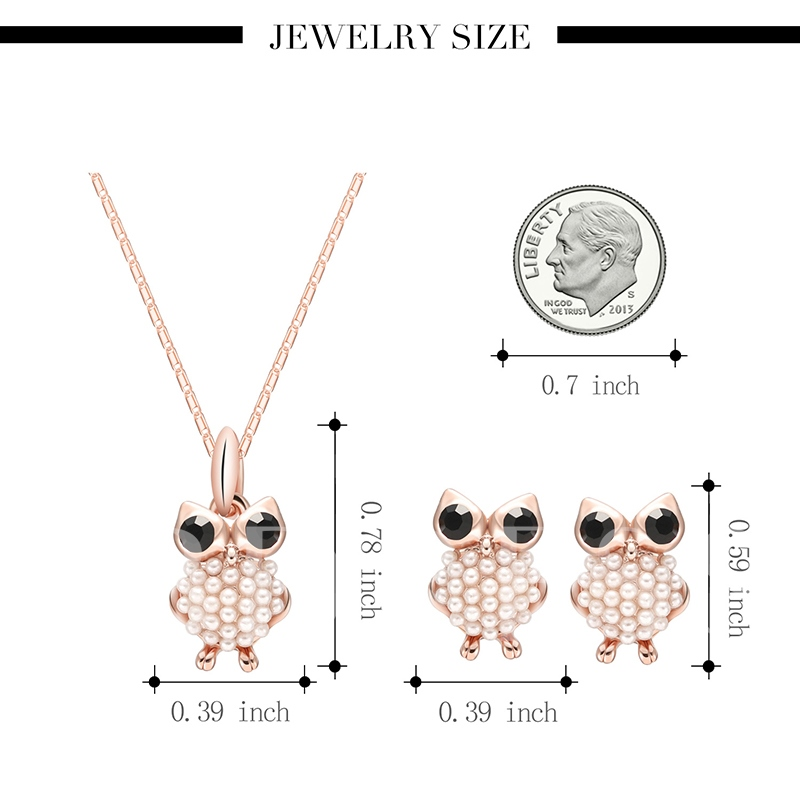 Owl Design Imitation Pearl Jewelry Sets