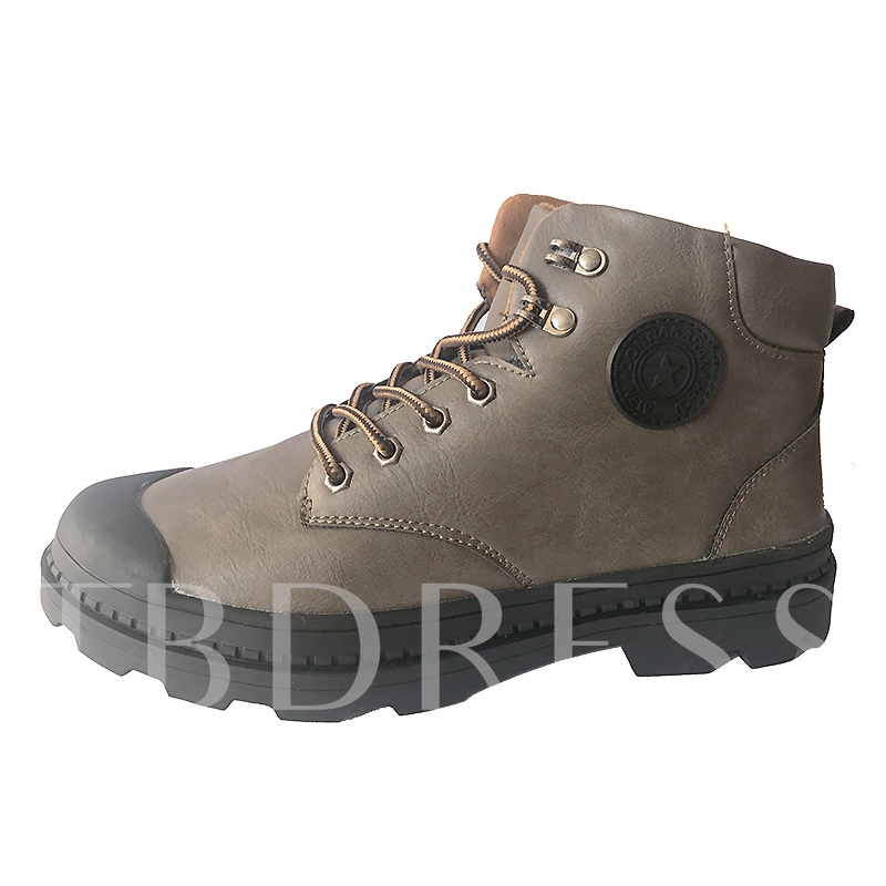 Rubber Outsole Solid Men's Martin Shoes Snow Boots