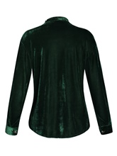 Stand Collar Hollow Single-Breasted Women's Blouse