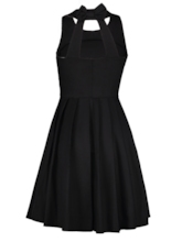 Round Neck Backless Women's A-Line Dress