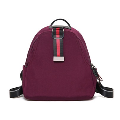 Preppy Chic Solid Color Shell Backpack