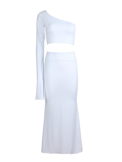 One Shoulder Off Women's Two Piece Outfits