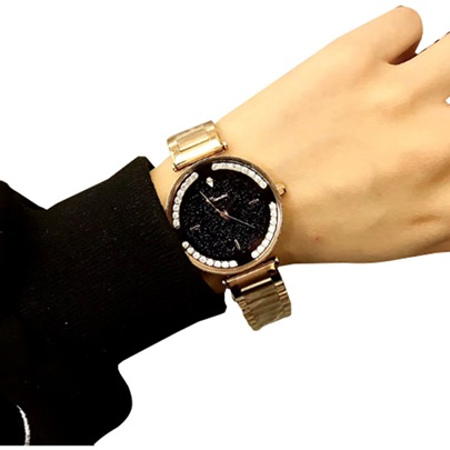 Full Drill Starry Sky Stainless Steel Strap Watches