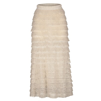 Falbala Lace Patchwork Ankle-Length Women's Skirt