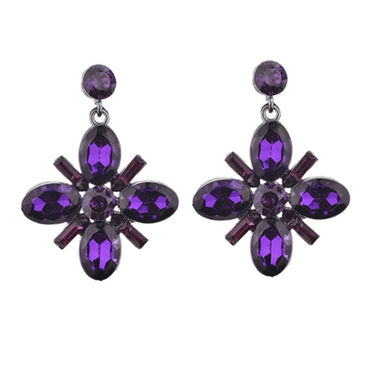 Ultra Violet Synthetic Stones Earrings
