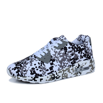 Lace Up Camouflage Lover's Sneakers Work Shoes
