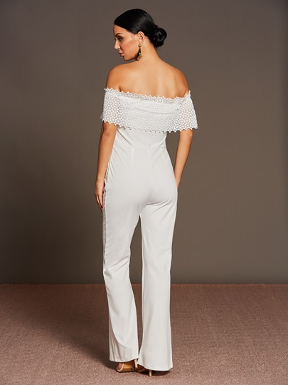 Boat Neck Pure Color Wide Leg Women's Jumpsuits