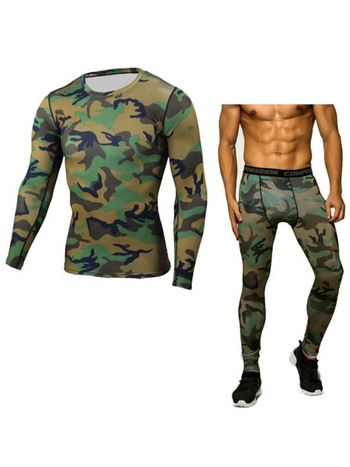Men's Camouflage Breathable Quick-drying Suit