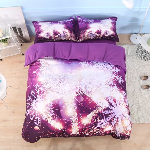 Snowflake Dream Four-Piece Set 3D Scenery Bedding Sets