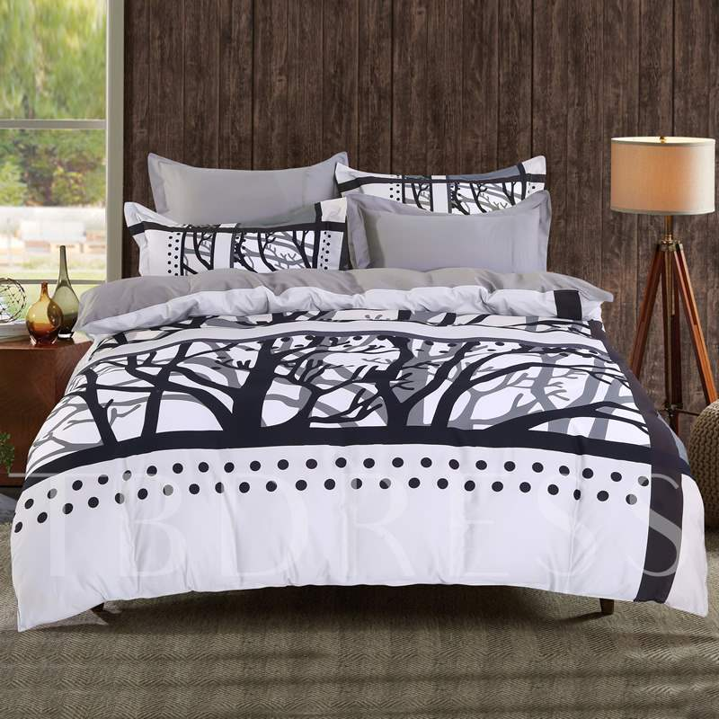 Tree Branches Film Photography 4-Piece Cotton Bedding Sets/Duvet Cover